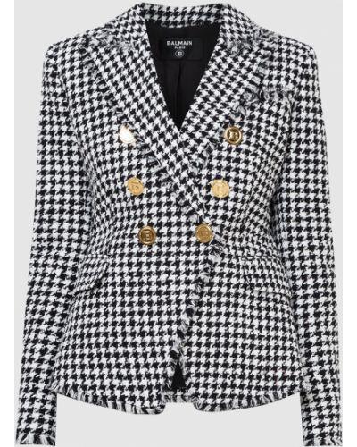 Пиджак твидовый - белый Balmain