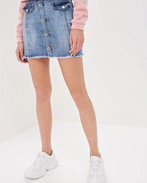 Джинсовая юбка - голубая G&g
