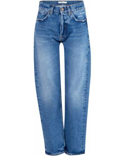 Прямые джинсы укороченные с эффектом потертости Two Women In The World