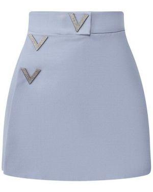 Короткие шорты шерстяные шелковые Valentino