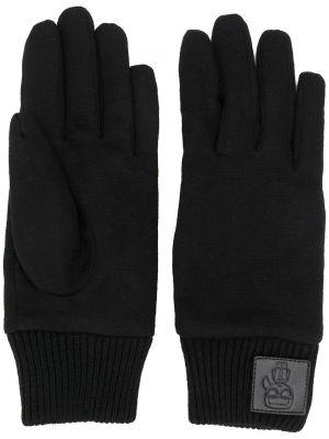 Перчатки кашемировые черные Karl Lagerfeld