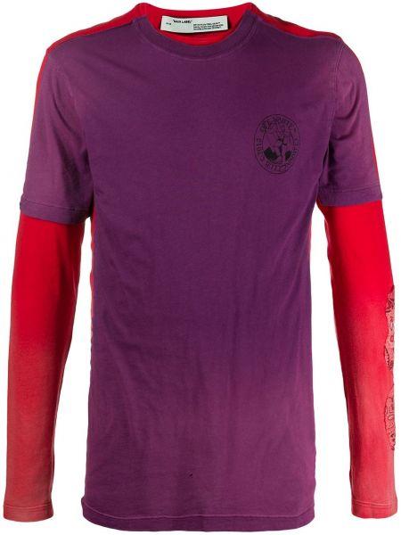 Koszula z długim rękawem karmazynowy fioletowy Off-white