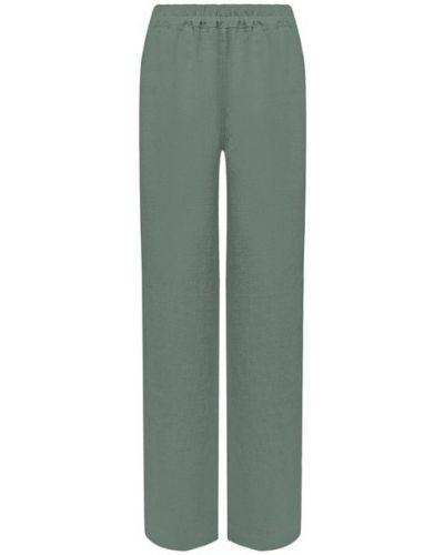 Льняные зеленые брюки La Fabbrica Del Lino