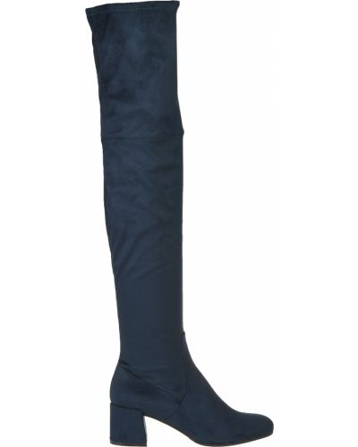 Ботфорты на каблуке кожаные текстильный Roberto Serpentini