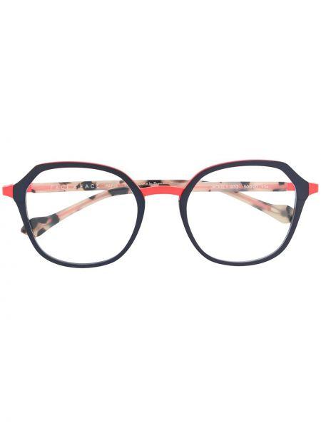 Синие очки круглые металлические Face à Face