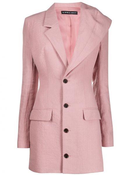 Розовый пиджак с карманами на пуговицах Y/project