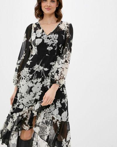 Прямое черное платье Sisley