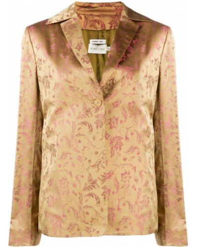 Прямая розовая длинная куртка Romeo Gigli Pre-owned