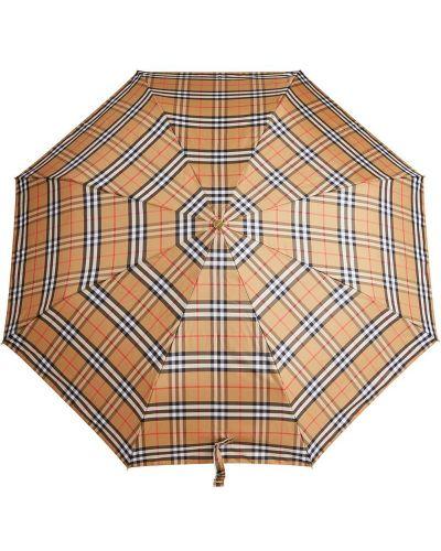 Зонт в клетку желтый Burberry