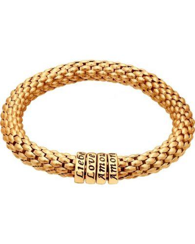 Серебряный браслет позолоченный золотой Sokolov