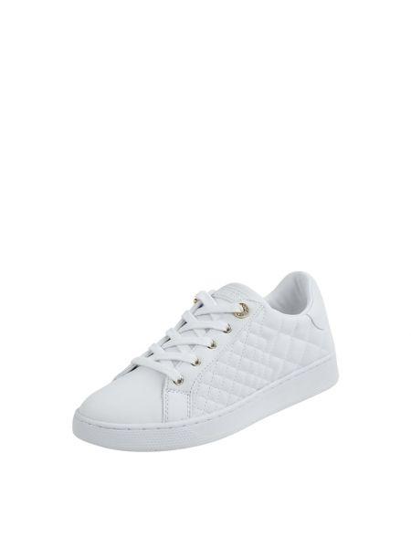 Biały sneakersy z logo zasznurować Guess