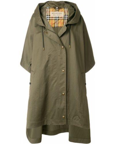 Пальто с капюшоном на пуговицах свободного кроя Burberry