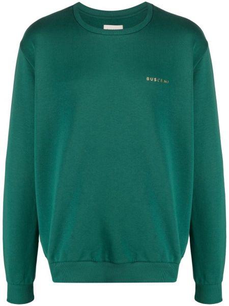 Zielona bluza długa z długimi rękawami bawełniana Buscemi