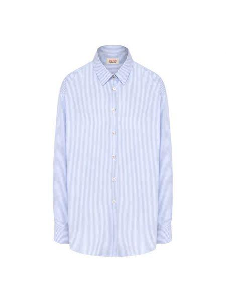 Деловая рубашка свободного кроя на пуговицах для офиса Paul&joe