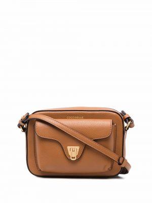 Коричневая сумка на плечо Coccinelle