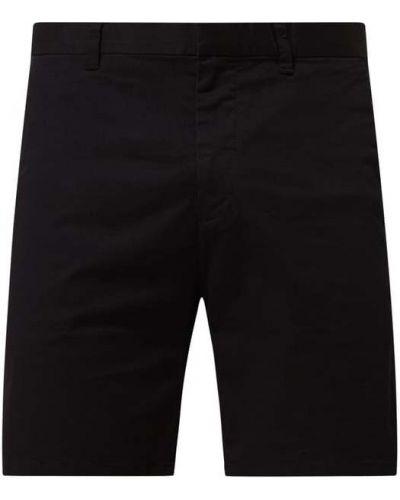 Czarne szorty chinosy bawełniane Esprit Collection
