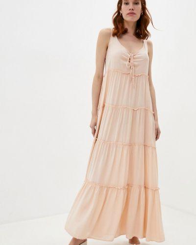 Повседневное розовое повседневное платье Pilyq