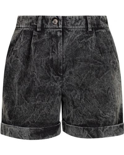 Серые хлопковые джинсовые шорты с отворотом Artem Krivda