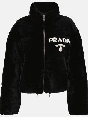 Куртка с принтом - черная Prada