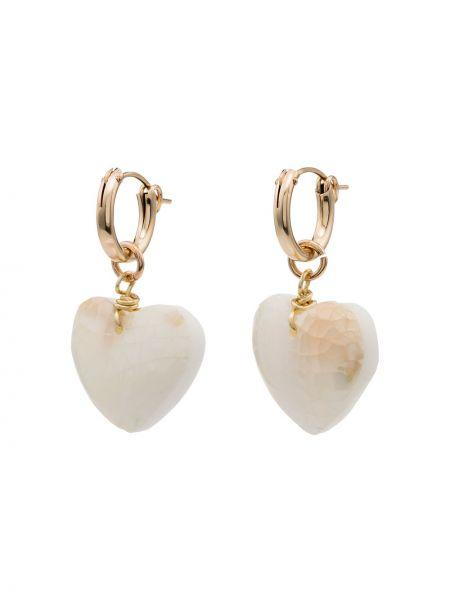 Białe kolczyki sztyfty perły Brinker & Eliza