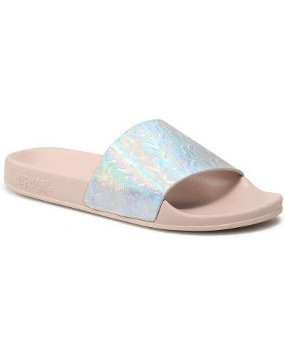 Sandały srebrne - różowe Michael Michael Kors