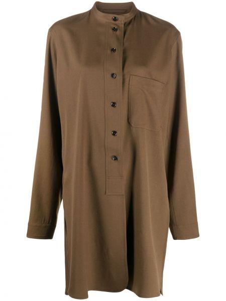 Рубашка с длинным рукавом - коричневая Lemaire
