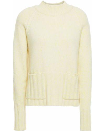 Prążkowany żółty z kaszmiru sweter Autumn Cashmere