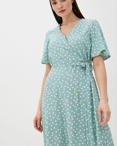 Зеленое платье с запахом Zarina