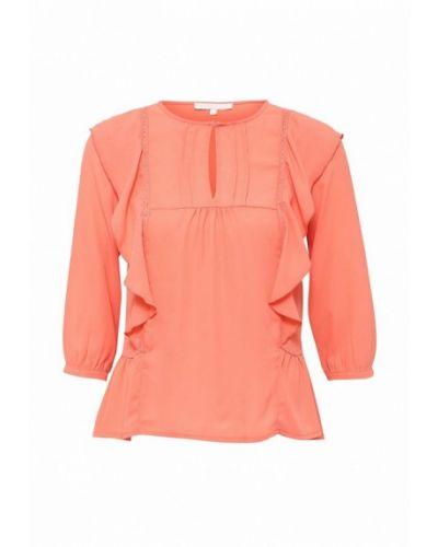 Блузка с длинным рукавом коралловый французский Newlily