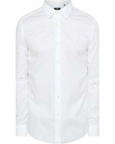 Bawełna biały koszula z mankietami z długimi rękawami Boss