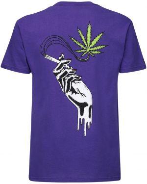Fioletowy t-shirt bawełniany 1800-paradise
