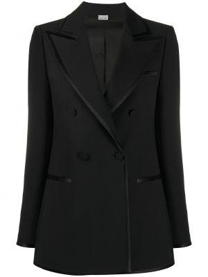 Czarna marynarka bawełniana z długimi rękawami Gucci