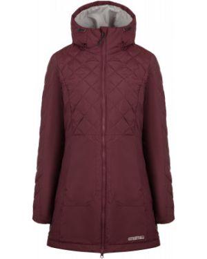 Приталенная теплая красная куртка с капюшоном на молнии Outventure