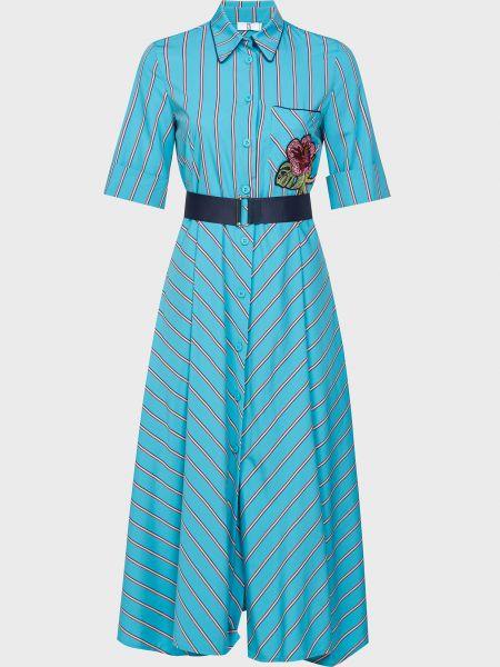 Платье на пуговицах - зеленое Sfizio