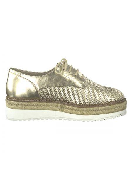 Ботинки на шнуровке на платформе на каблуке Tamaris