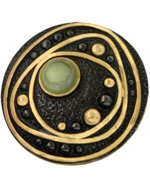 Подвеска позолоченная - черная балтийское золото