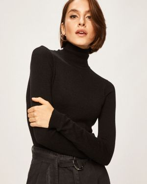 Sweter z wzorem z dekoltem Answear