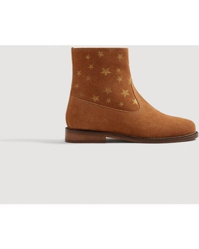Ботинки на каблуке текстильные Mango Kids