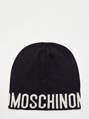 Черная шапка осенняя Moschino
