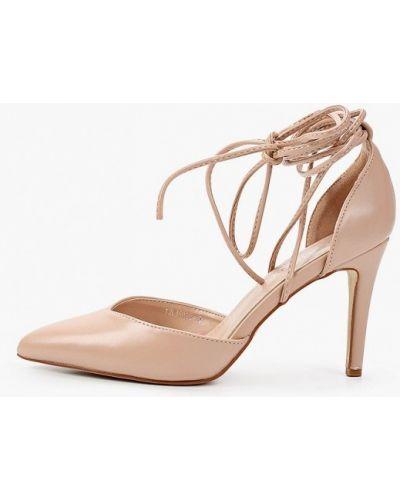 Кожаные бежевые туфли Tulipano