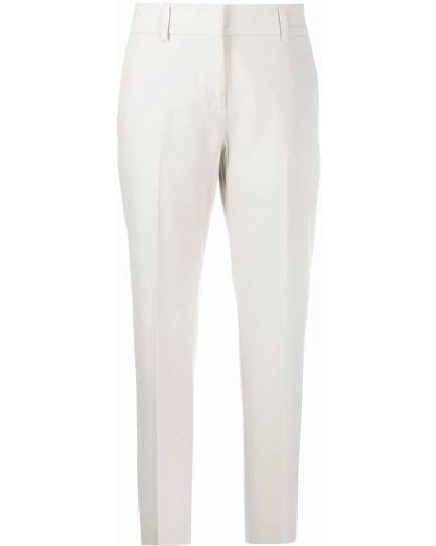 Шерстяные серые прямые брюки с потайной застежкой Piazza Sempione