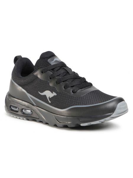 Czarne buty sportowe bez obcasa Kangaroos