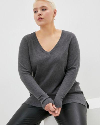 Серый пуловер Zizzi