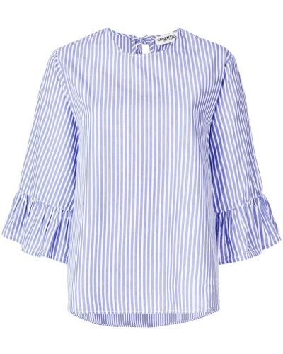 Белая блузка в полоску Essentiel Antwerp