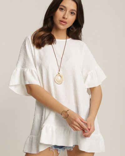 Biała tunika materiałowa Renee