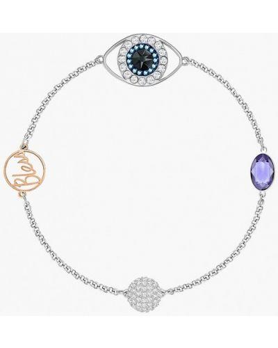 Серебряный браслет серебряного цвета Swarovski
