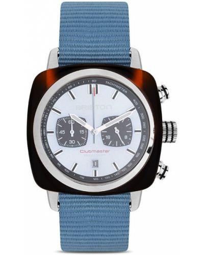 Brązowy zegarek kwarcowy srebrny kwarc Briston Watches