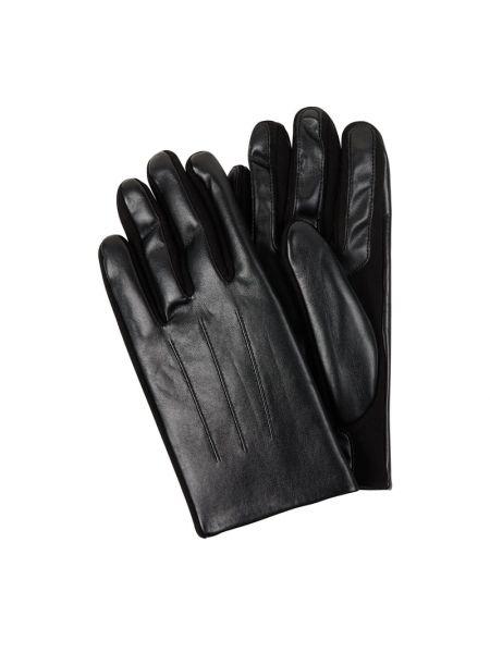 Czarne rękawiczki bawełniane Eem-fashion