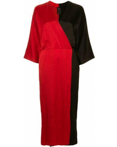 Платье с V-образным вырезом с длинными рукавами Zero + Maria Cornejo