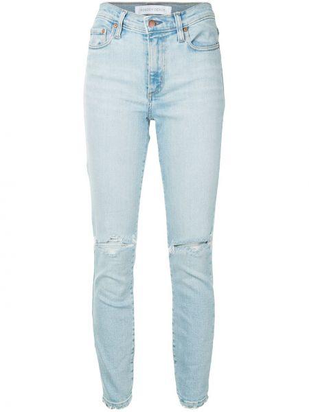 Хлопковые синие джинсы-скинни с поясом на молнии Nobody Denim
